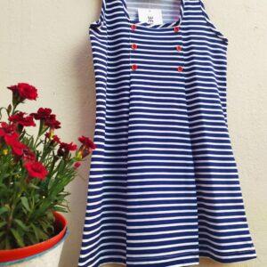 Vestido nena mariñeiro